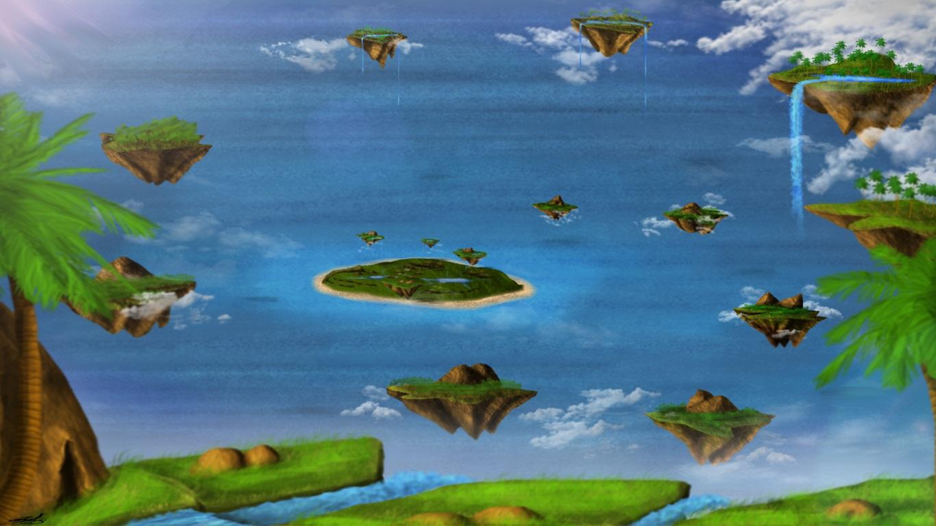 Tropical Flying Islands By Edge45.jpg