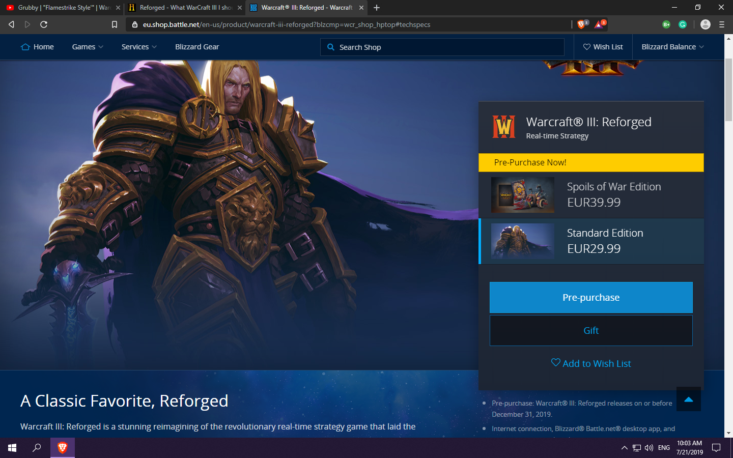 Reforged - What WarCraft III I should buy? | HIVE