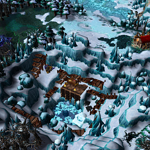 "Screenshot from my map ""Frozen Quarry"""
