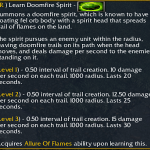 Doomfire Spirit Description