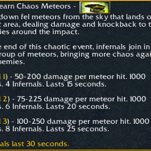 Chaos Meteors Description