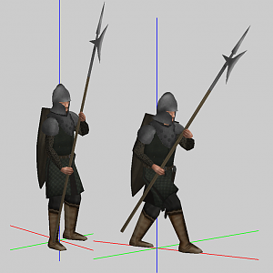 Tyrell Medium / Halberd Stand and Walk Anim