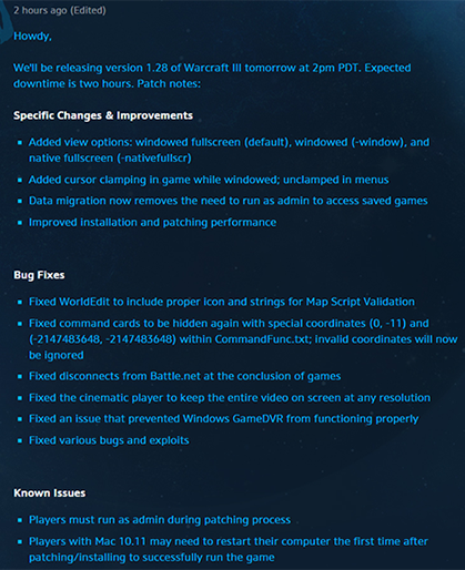 warcraft 3 patch 1.28